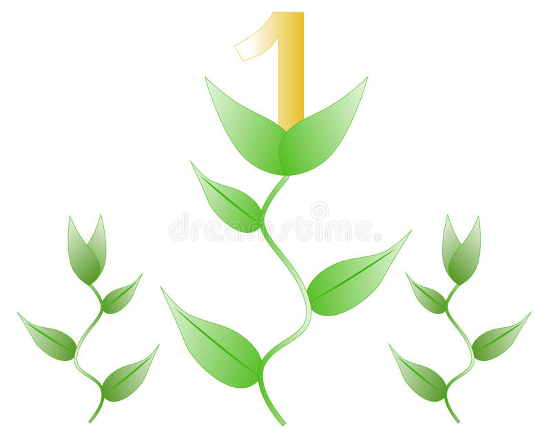 Plant with the number one royalty free illustration