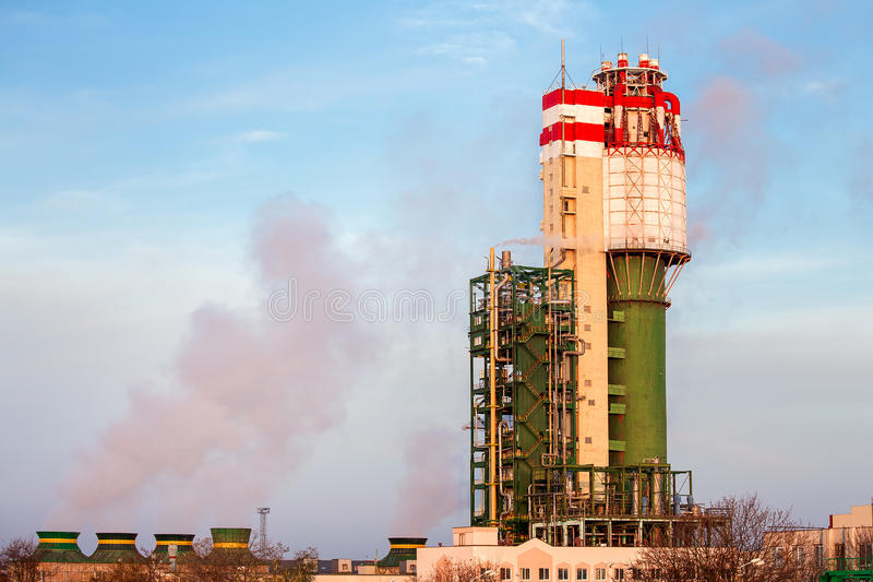 A plant for production Chemical industry. stock photos