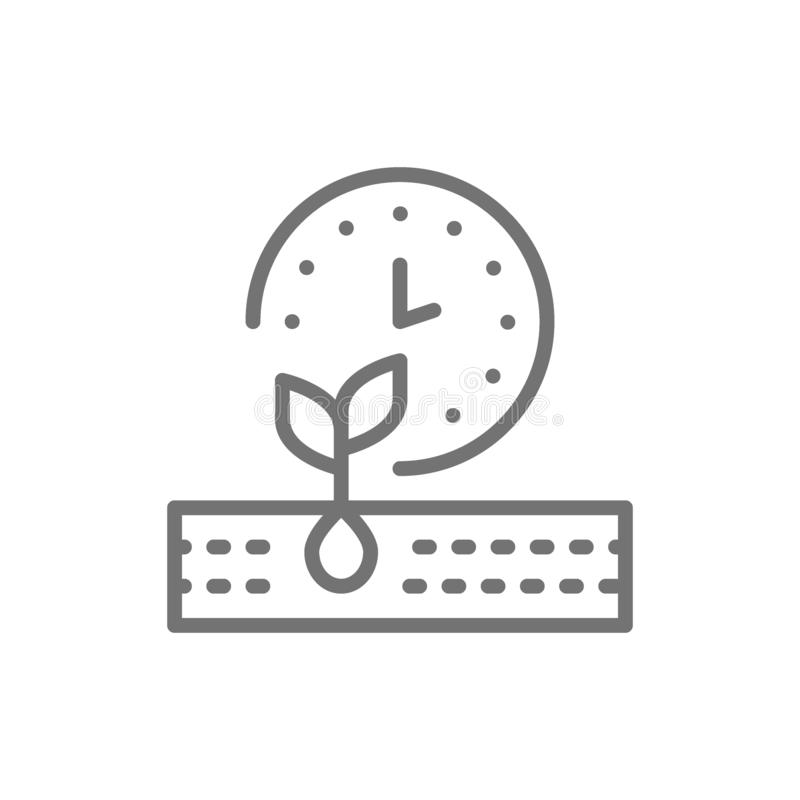 Plant ripening period, seed planting, agriculture line icon. Vector plant ripening period, seed planting, agriculture line icon. Symbol and sign illustration vector illustration