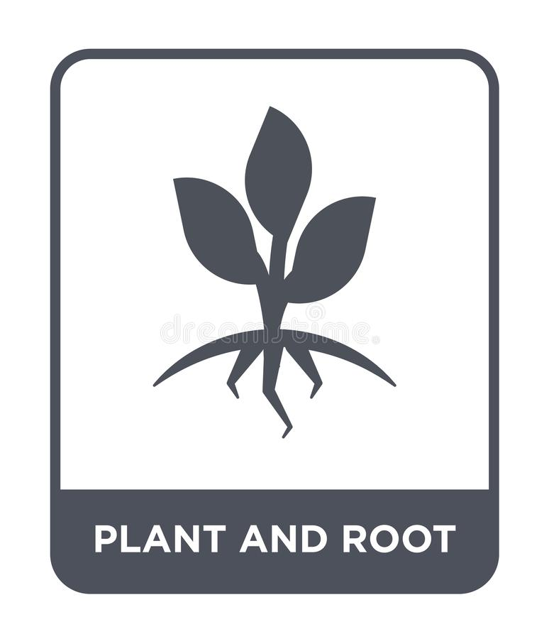 plant and root icon in trendy design style. plant and root icon isolated on white background. plant and root vector icon simple vector illustration