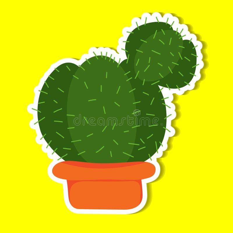 Plant of simple. Color illustrations royalty free illustration