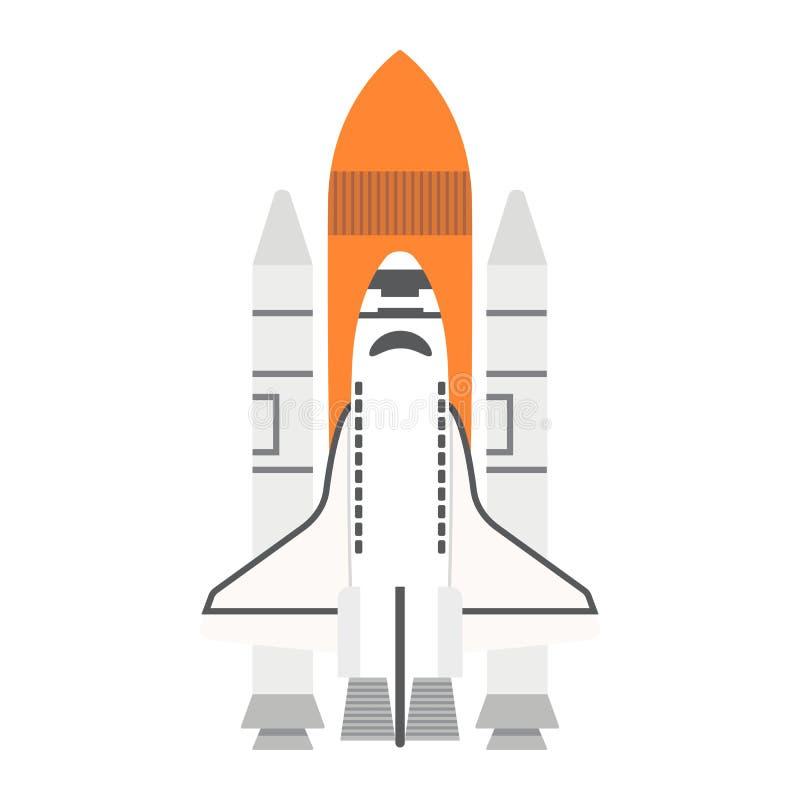 Plant symbol, transport och utrymme för rymdfärja stock illustrationer