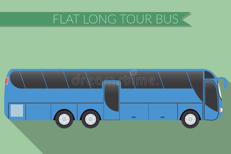 Plant trans. för stad för designvektorillustration, buss, intercity långdistans- turist- lagledarebuss, sidosikt royaltyfri illustrationer