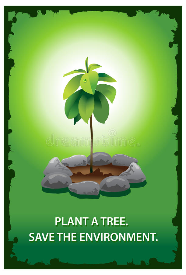 Plant A Tree Poster Stock Image