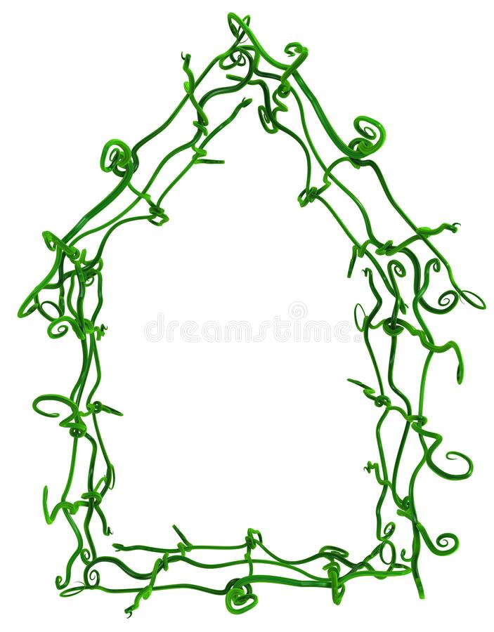 Plant Vines Green, Interweave House Contour royalty free stock image
