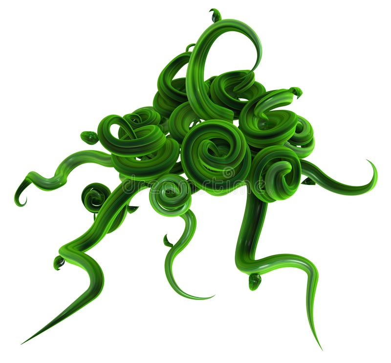 Plant Vines Green, Swirl Bunch Unravel royalty free stock images