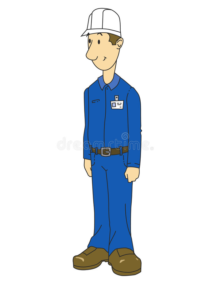Plant Worker Graphic royalty free illustration