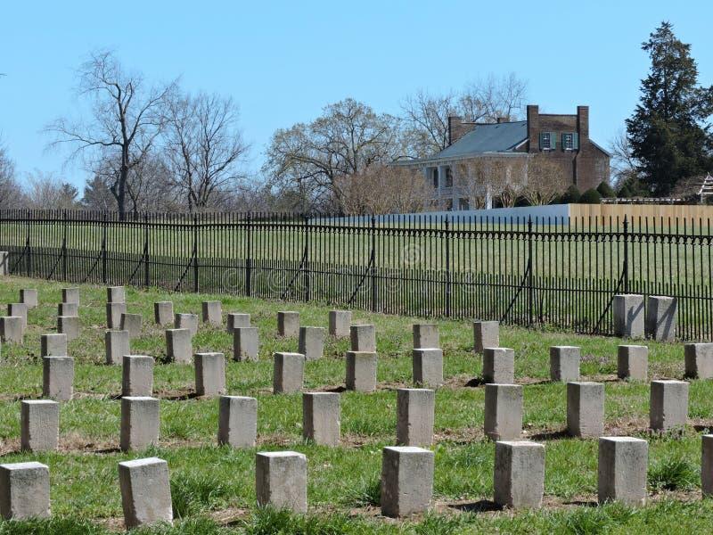 Plantação confederada do campo de batalha foto de stock
