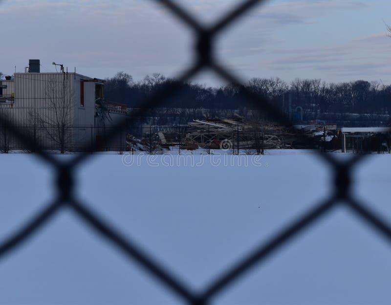 Planta abandonada do GM, Janesville, WI fotos de stock