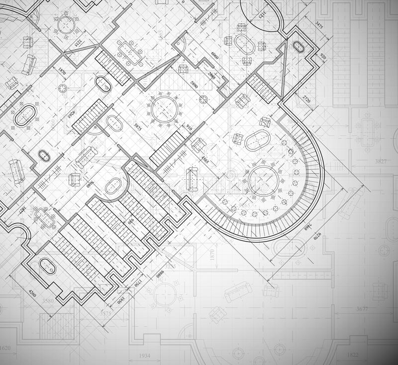 Planta arquitectónica ilustração royalty free