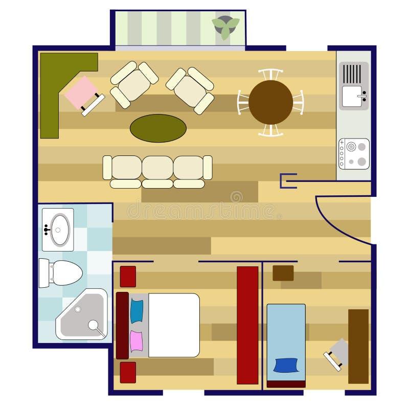 Planta baixa ilustra o stock ilustra o de banho decor for Plano b mobilia