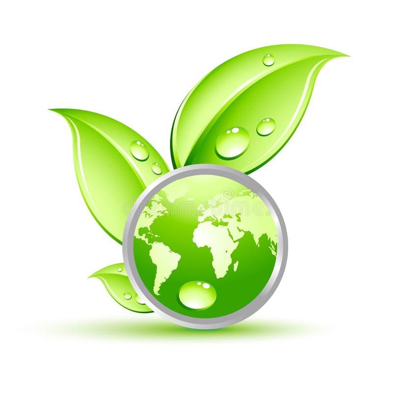 Planta com globo verde ilustração royalty free