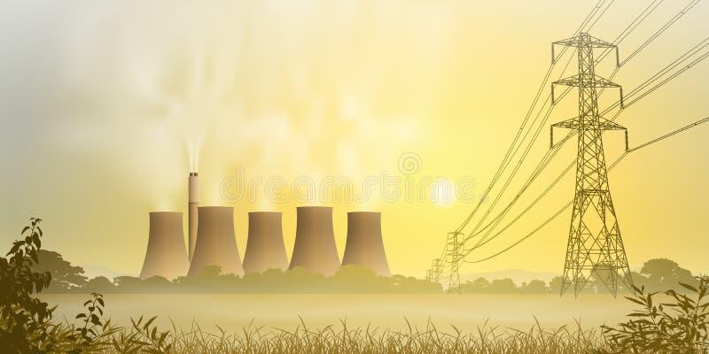 Planta da eletricidade ilustração do vetor