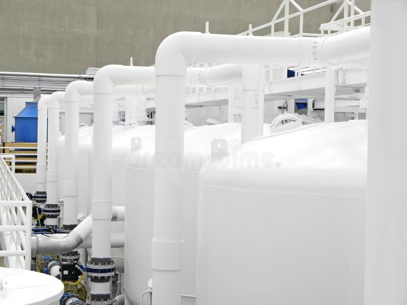 Planta da purificação de água imagens de stock