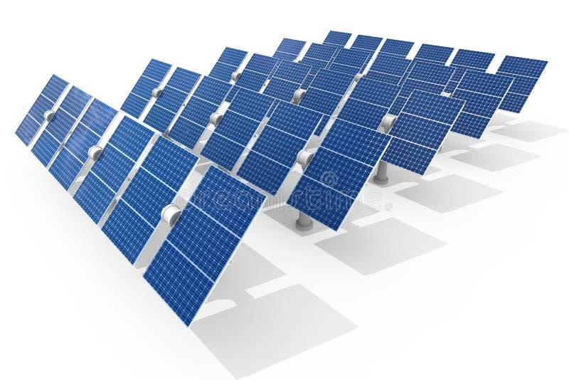 Planta de energía solar stock de ilustración