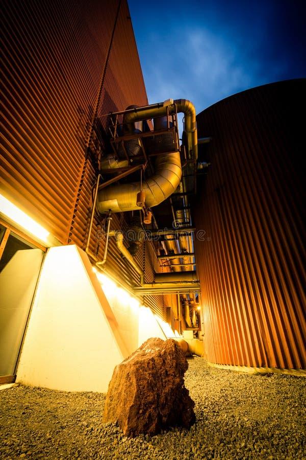 Planta de energia Geothermal imagens de stock