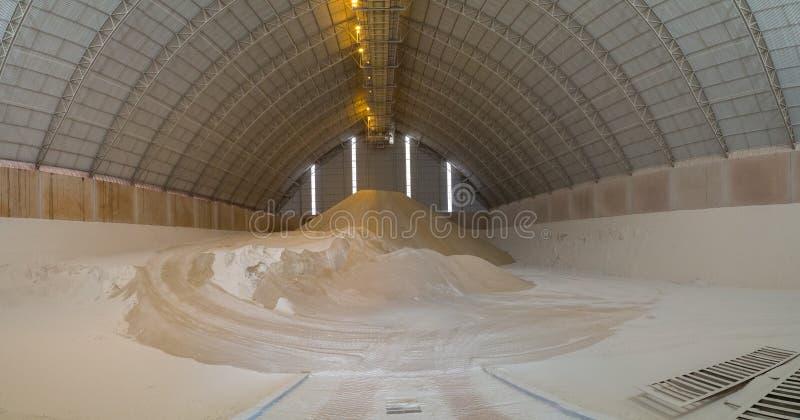 Planta de fábrica do storange do açúcar fotos de stock