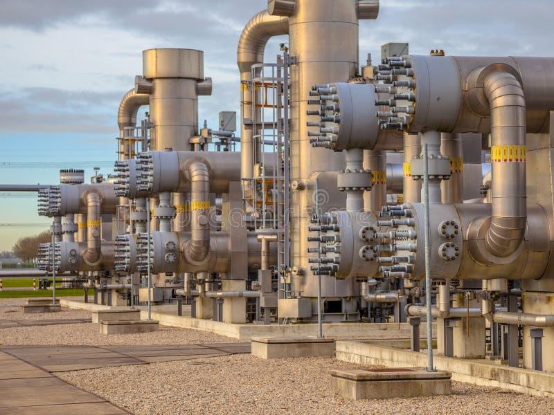 Planta de gas natural holandesa imagen de archivo