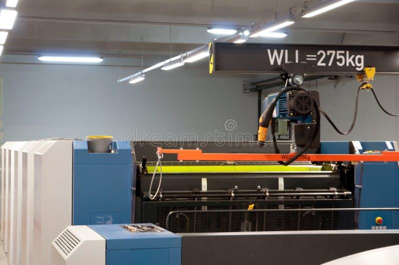 Planta de impressão - máquina deslocada da imprensa imagem de stock