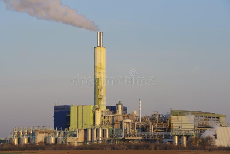 Planta de incineração fotografia de stock