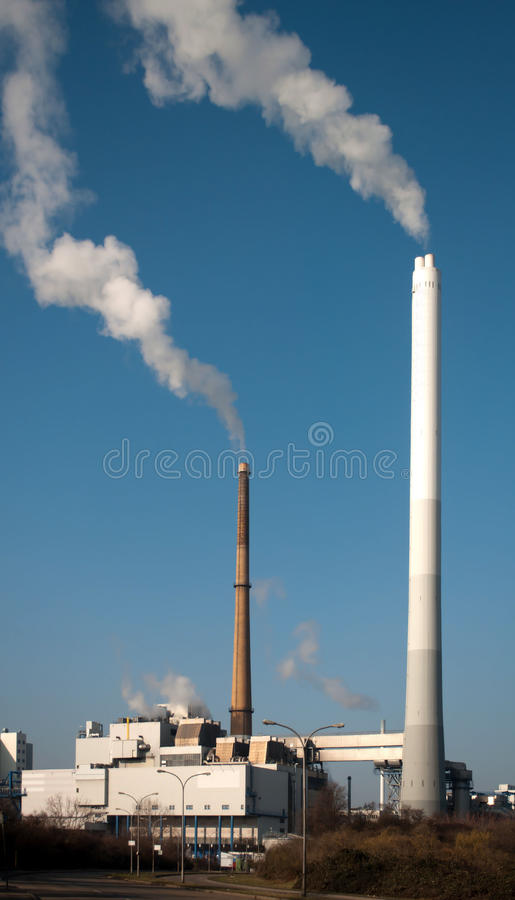 Planta de incineração Waste fotografia de stock