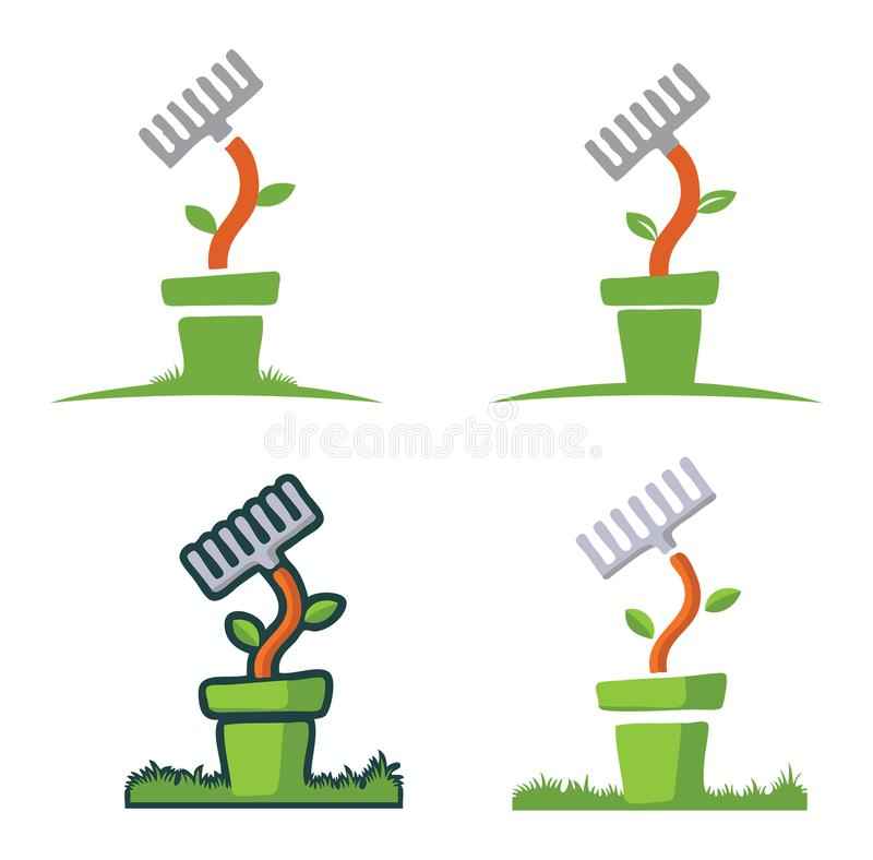 Planta de jardim no potenciômetro imagem de stock