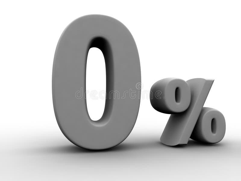 Planta de prestação zero dos por cento ilustração stock