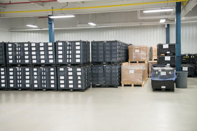 Planta de producción industrial de Warehouse de la fabricación fotos de archivo