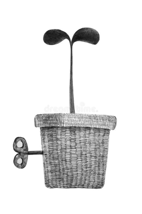 Planta de semillero stock de ilustración