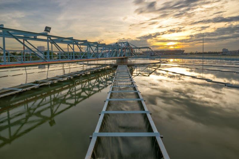 Planta de tratamento da água fotografia de stock