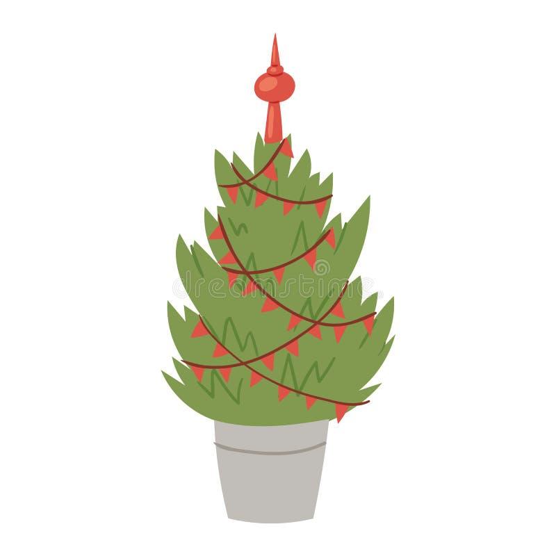 Planta del árbol del partido de la estación del invierno de la celebración del día de fiesta del diseño del regalo de Navidad de  libre illustration