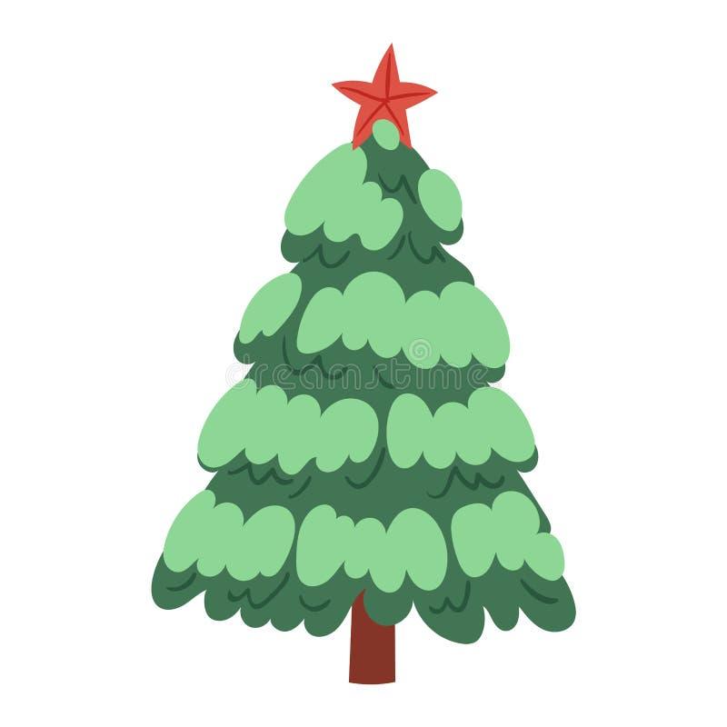 Planta del árbol del partido de la estación del invierno de la celebración del día de fiesta del diseño del regalo de Navidad de  ilustración del vector