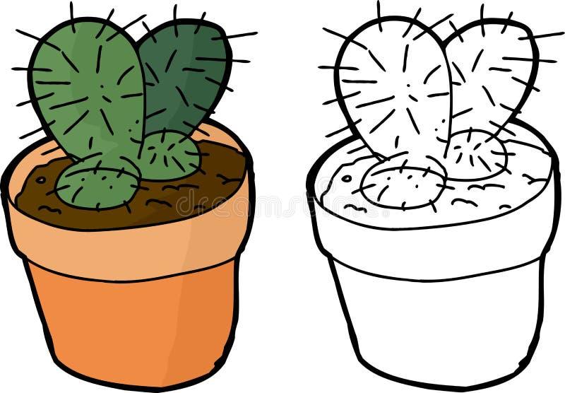 Download Planta del cactus ilustración del vector. Ilustración de arte - 41915492