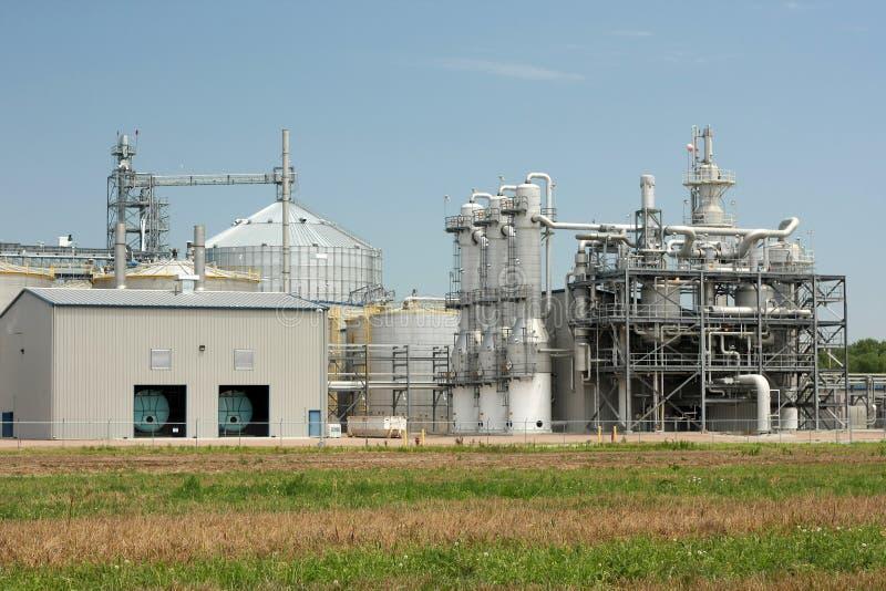 Planta del etanol imagen de archivo