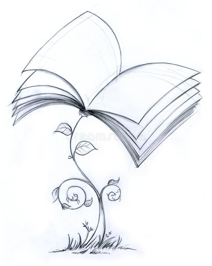 Planta do livro ilustração royalty free