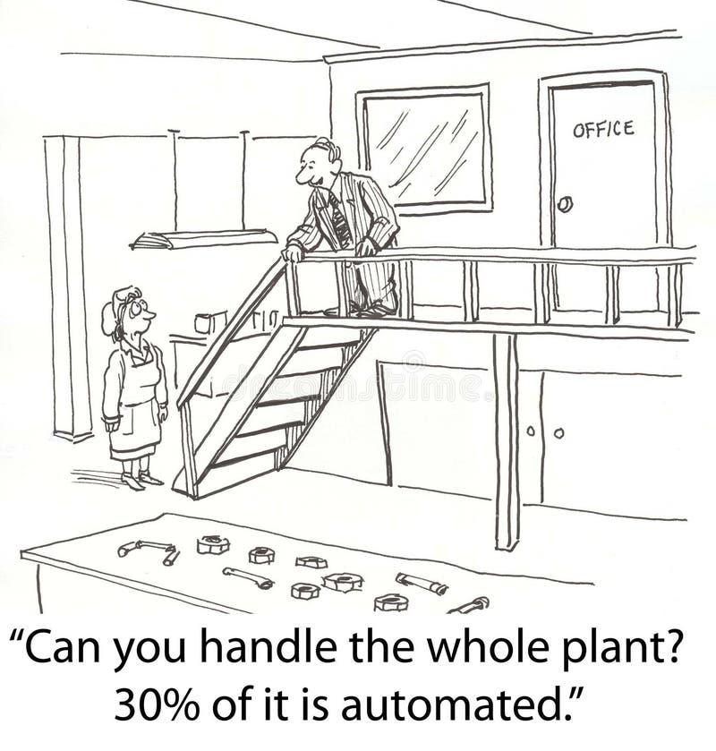Planta do punho ilustração stock