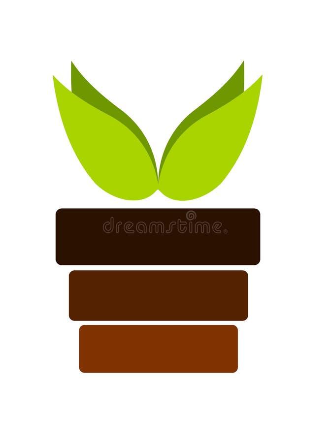 Planta en crisol libre illustration