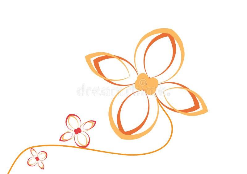 Planta floral - vetor ilustração royalty free