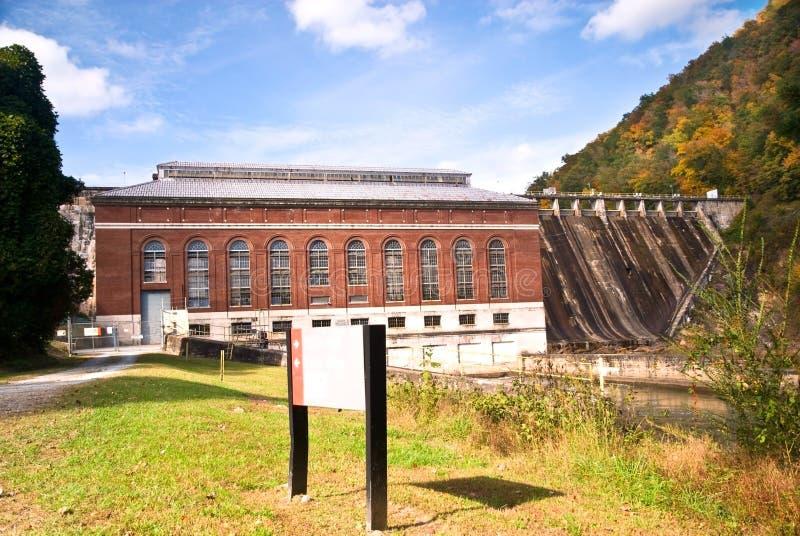 Planta Hydroelectric do gerador foto de stock