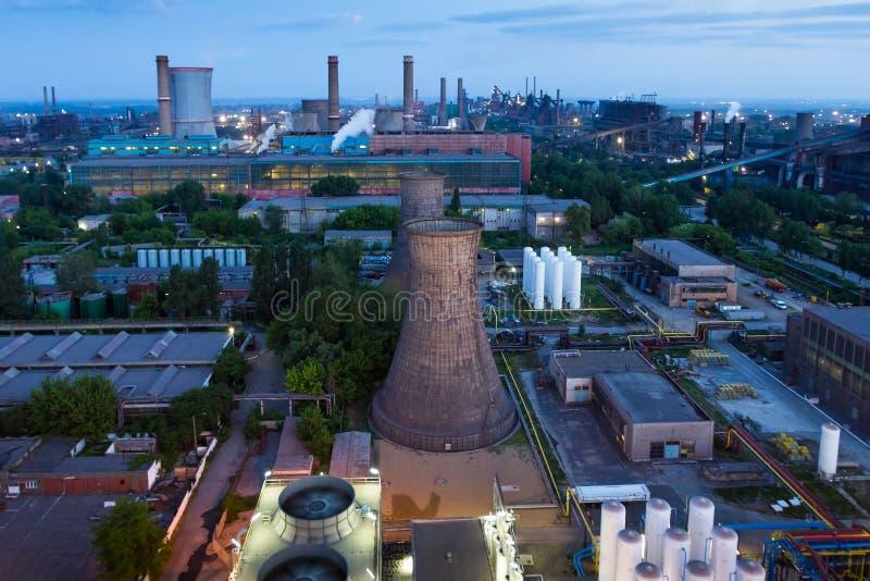 Planta industrial grande fotos de stock royalty free