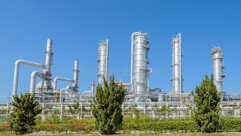 Planta industrial petroquímica foto de archivo