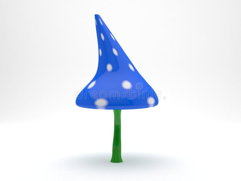Planta isolada plástico do modelo 3d do cogumelo fotos de stock royalty free