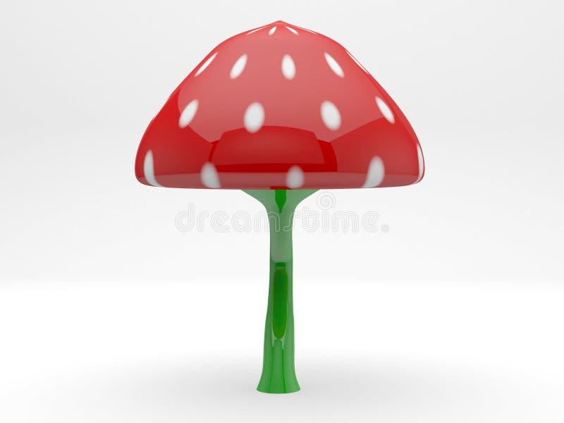 Planta isolada plástico do modelo 3d do cogumelo foto de stock royalty free