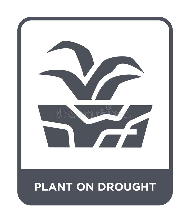 planta no ícone da seca no estilo na moda do projeto planta no ícone da seca isolado no fundo branco planta no ícone do vetor da  ilustração do vetor