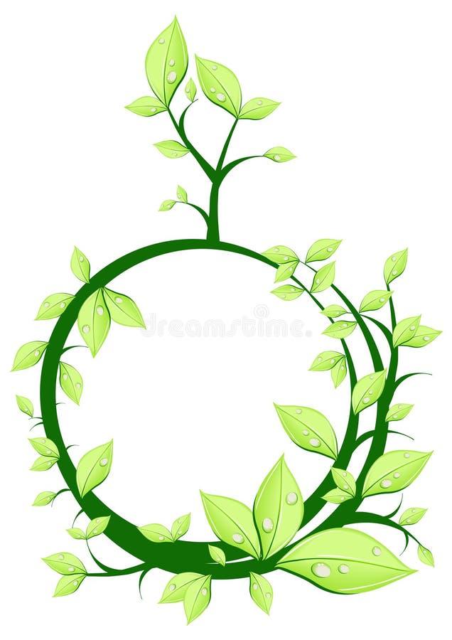 Planta no círculo do formulário ilustração do vetor