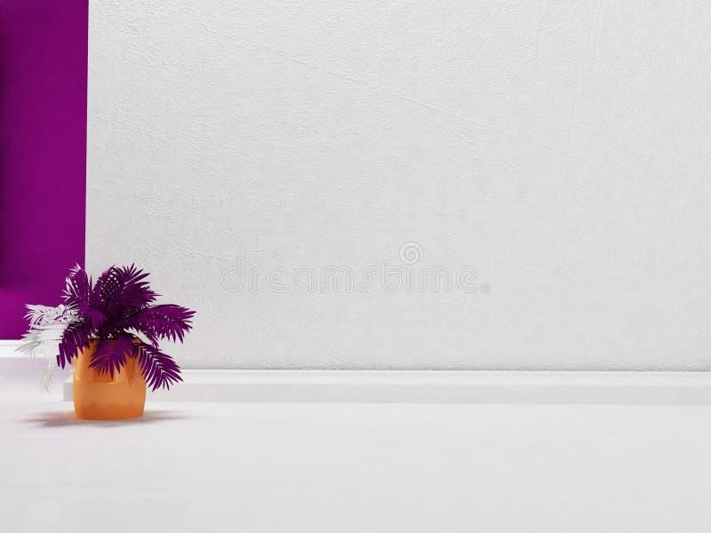 Planta no vaso, 3d ilustração do vetor