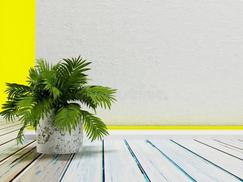 Planta no vaso, 3d ilustração stock
