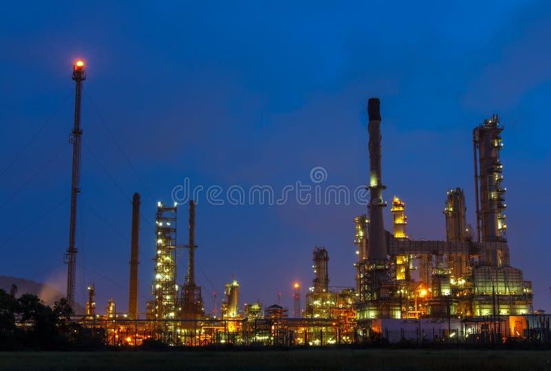Planta petroquímica, refinería foto de archivo libre de regalías