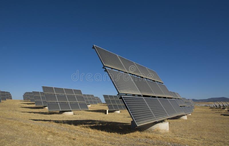 Planta Photovoltaic solar, Badajoz, Spain imagens de stock royalty free