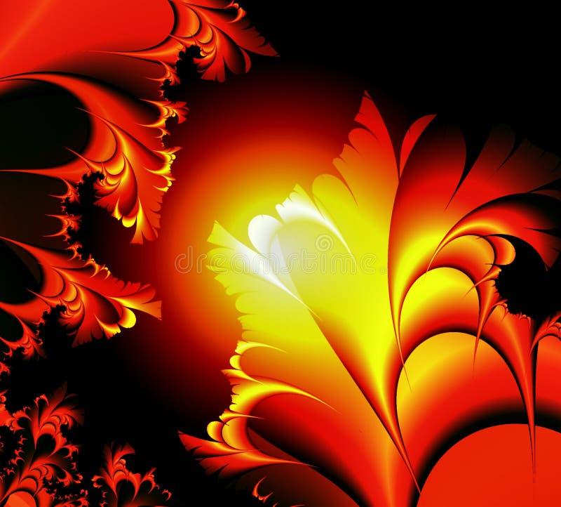 Planta roja del resplandor libre illustration